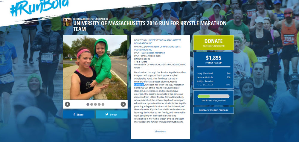 Boston Marathon Run for Krystle Campbell