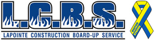 LaPointe Construction Board Up Service LLC Mobile Logo