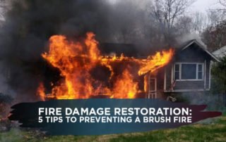 Fire Damage Restoration: 5 Tips to Preventing a Brush Fire