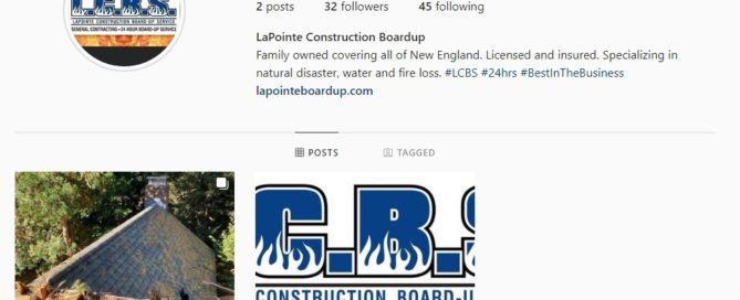 LaPointe Construction Board Up Service is proud to announce that we are now on Instagram!